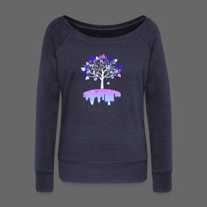 Detroit Winter Tree - Women's Wideneck Sweatshirt