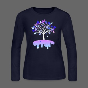 Detroit Winter Tree - Women's Long Sleeve Jersey T-Shirt