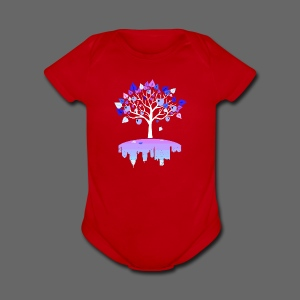 Detroit Winter Tree - Short Sleeve Baby Bodysuit