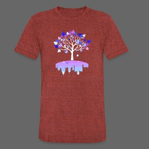 Detroit Winter Tree - Unisex Tri-Blend T-Shirt by American Apparel
