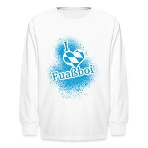 I Love Bavarian Soccer T-Shirt - Kids' Long Sleeve T-Shirt