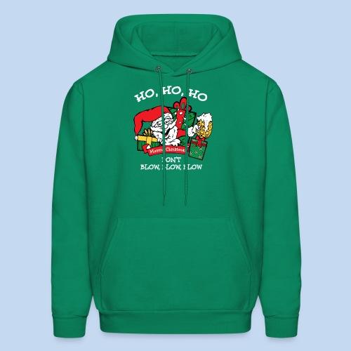 Ho Ho Ho Holiday Sweatshirt with Hoodie - Men's Hoodie