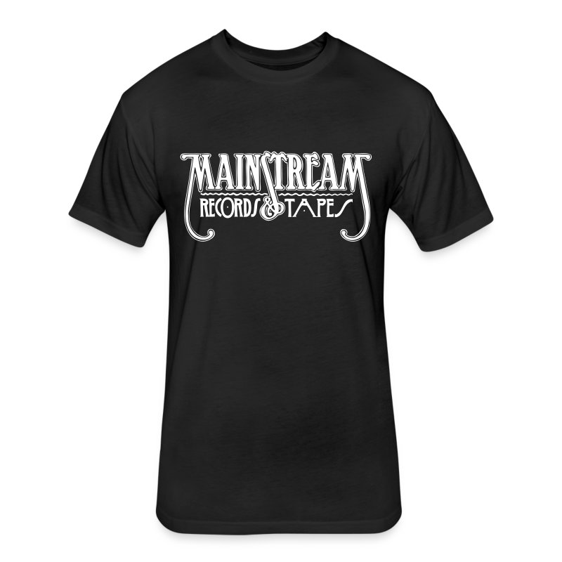 Mainstream Records & Tapes - Men - Fitted Cotton/Poly T-Shirt by Next Level