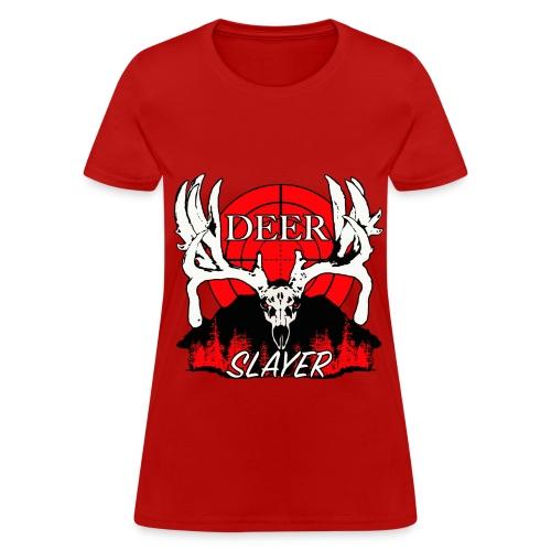 Deer slayer 2 red - Women's T-Shirt