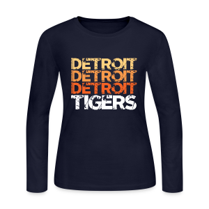 DETROIT TIGERS - Women's Long Sleeve Jersey T-Shirt