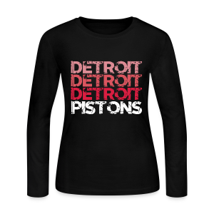 DETROIT PISTONS - Women's Long Sleeve Jersey T-Shirt