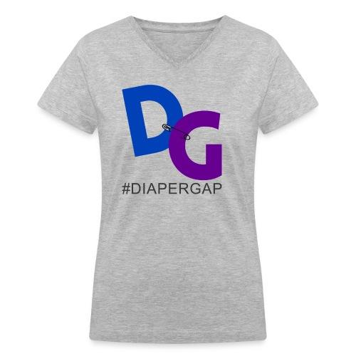 #DiaperGap T-Shirt - V-neck - Large Logo - Women's V-Neck T-Shirt