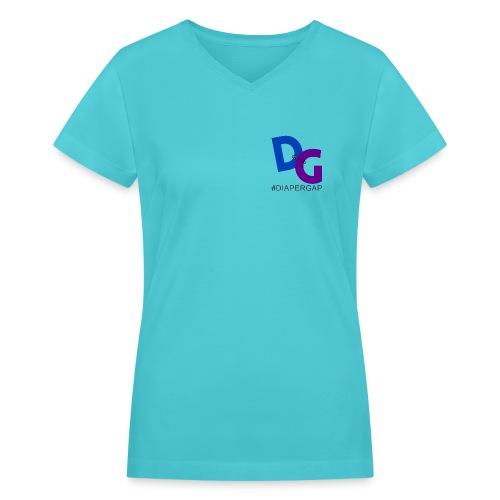 #DiaperGap T-Shirt - V-neck - Small Logo - Women's V-Neck T-Shirt