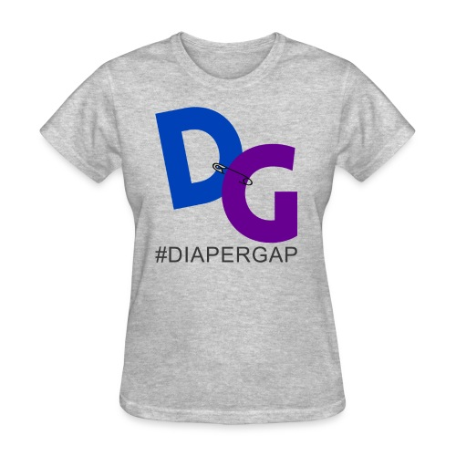#DiaperGap T-Shirt - Ladies - Large DG - Women's T-Shirt