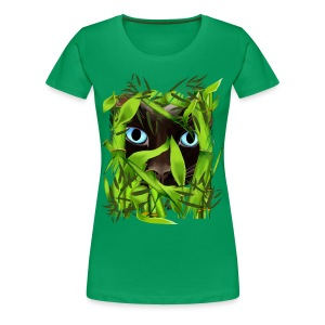 Siamese Cat Eyes in Bamboo - Women's Premium T-Shirt
