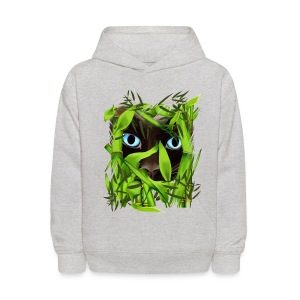 Siamese Cat Eyes in Bamboo - Kids' Hoodie