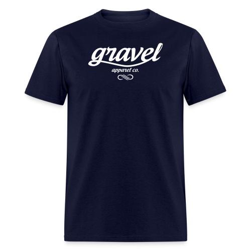 Gravel Apparel Logo Tee - Navy - Men's T-Shirt