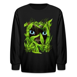 Siamese Cat Eyes in Bamboo - Kids' Long Sleeve T-Shirt