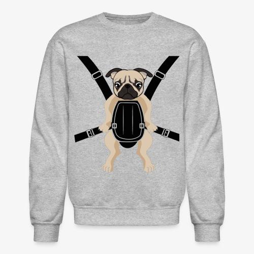 Baby PUG Carrier with Straps Crewneck Long Sleeves Sweatshirt - Crewneck Sweatshirt