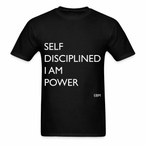 Empowered Black Male Tee: Self-Disciplined. I AM POWER. - Men's T-Shirt