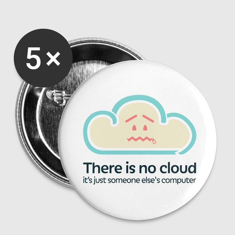 'There Is No Cloud' Original Buttons - White - Large Buttons