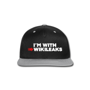 I'm With WikiLeaks - Snap-back Baseball Cap