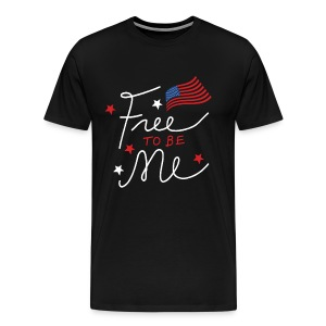 Free to be Me Patriotic Graphic T-shirt T-Shirts - Men's Premium T-Shirt