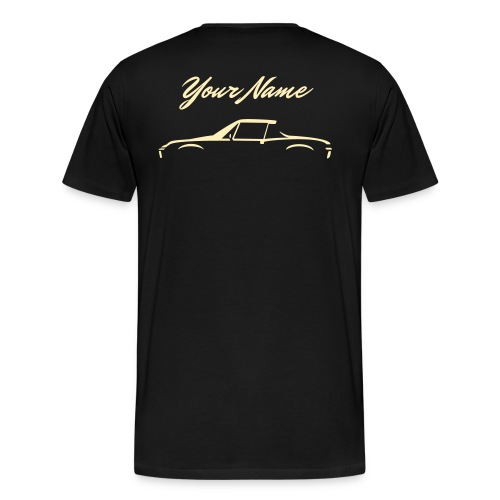 Your Name on the back +design on front  - Men's Premium T-Shirt