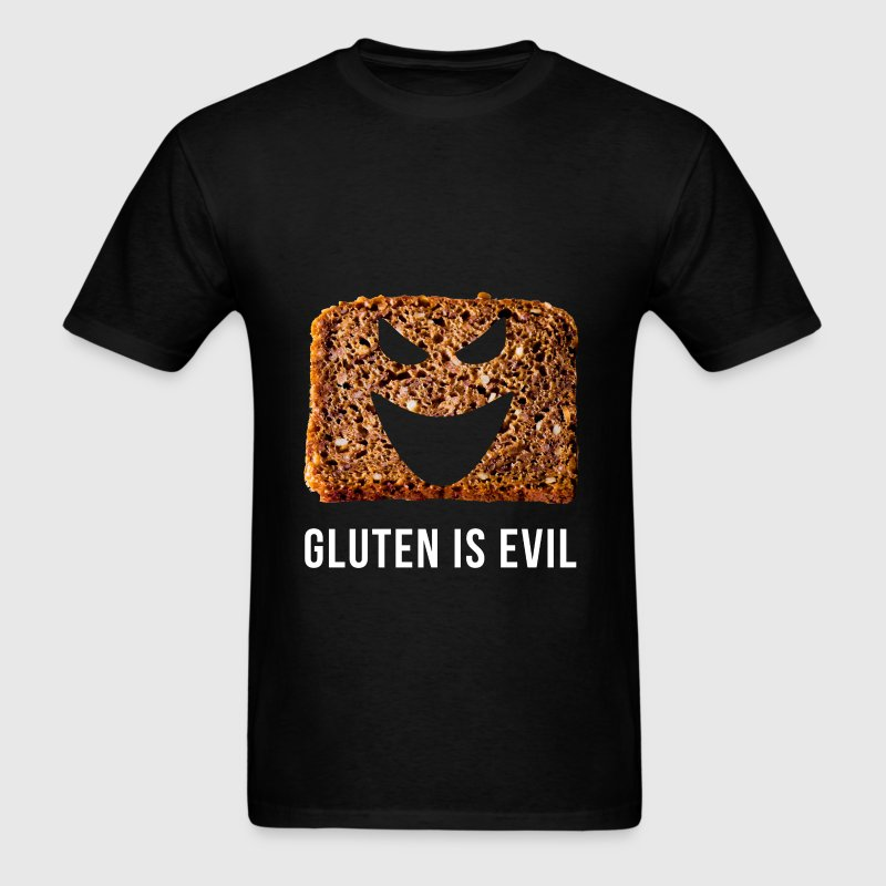 Gluten is evil - Men's T-Shirt