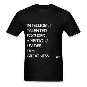 Empowered Black Male Tee: Black Men I AM GREATNESS Shirt  - Men's T-Shirt