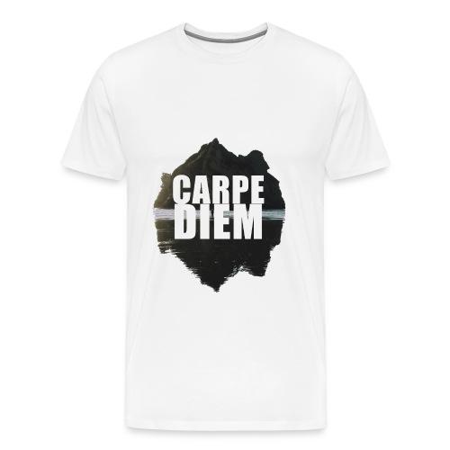 Mountain Carpediem - White - Men's Premium T-Shirt