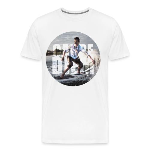Wave Man CarpeDiem - White - Men's Premium T-Shirt