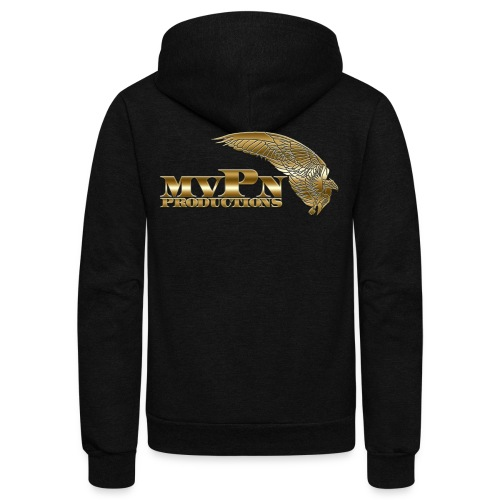 Black Zip Up mvPn Hoody - Unisex Fleece Zip Hoodie