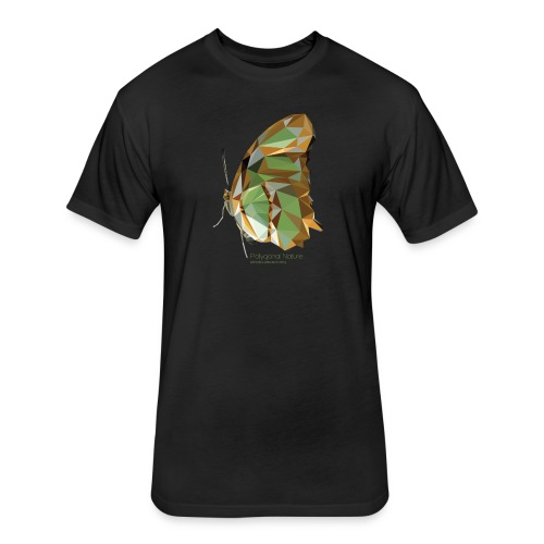 Polygonal Butterfly - Fitted Cotton/Poly T-Shirt by Next Level