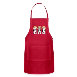 Three Funny Beagle Cartoon Aprons - Adjustable Apron