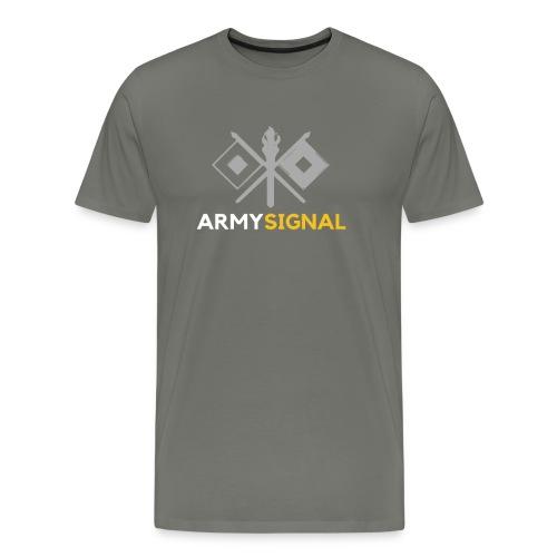 Army: Signal Corps Branch - Men's Premium T-Shirt
