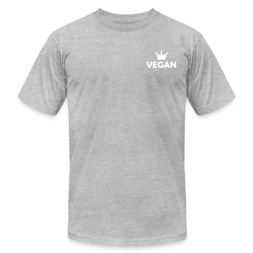 men's classic grey t-shirt vegan crown small - Men's Fine Jersey T-Shirt