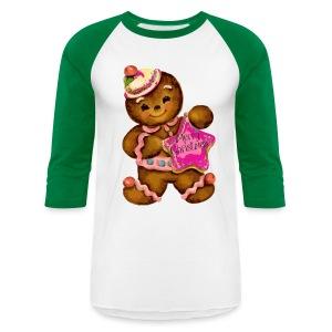 Gingerbread Girl - Baseball T-Shirt