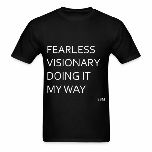Empowered Black Male Tee: Fearless Visionary  - Men's T-Shirt
