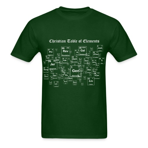 Christemistry - Christian Table of Elements - Men's T-Shirt