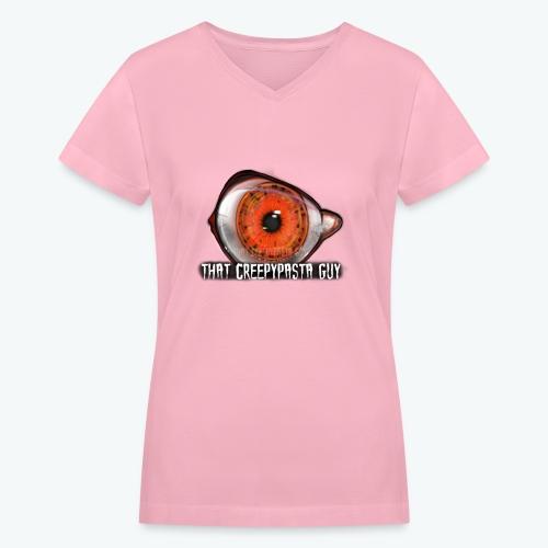 Grey Women's V-Neck T-Shirt - Women's V-Neck T-Shirt
