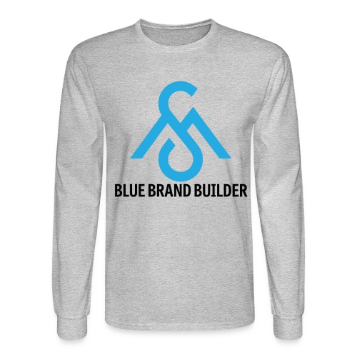 Blue Brand Builder-Long Sleeve - Men's Long Sleeve T-Shirt