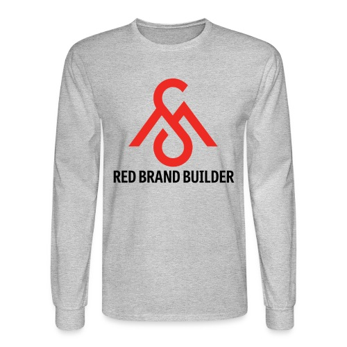 Red Brand Builder-Long Sleeve - Men's Long Sleeve T-Shirt