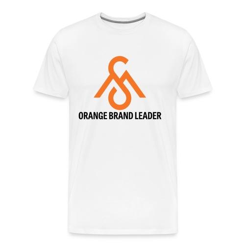 Orange Brand Leader Tee - Men's Premium T-Shirt