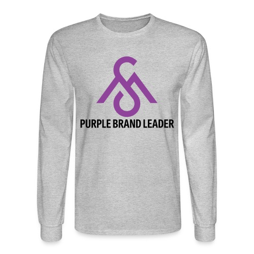 Purple Brand Leader-Long Sleeve - Men's Long Sleeve T-Shirt