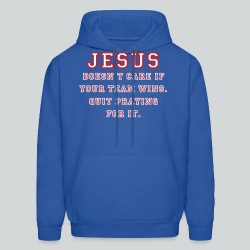 Jesus: Not a Sports Fan  - Men's Hoodie