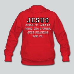 Jesus: Not a Sports Fan  - Women's Hoodie