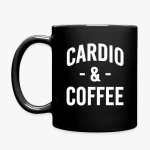 Cardio and Coffee funny mug - Full Color Mug