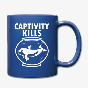 Captivity Kills Free the Orca Whales coffee mug  - Full Color Mug
