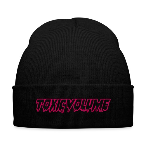 Toxic Volume Beanie - Knit Cap with Cuff Print