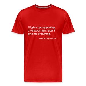 Calgary Breathing Red - Men's Premium T-Shirt