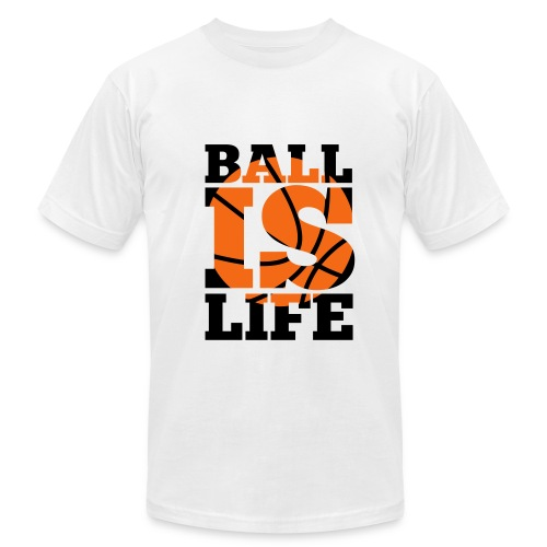 Ball Is Life White Tee - Men's Fine Jersey T-Shirt