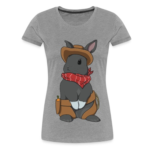Cowboy Bunny Shirt - Women's Premium T-Shirt