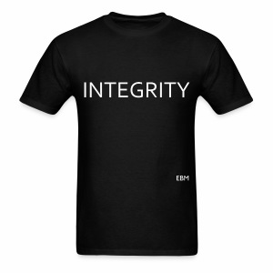 Empowered Black Male Tee: Black Males With INTEGRITY - Men's T-Shirt