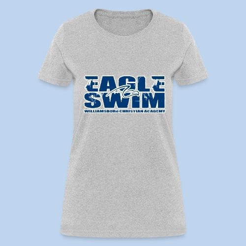 Eagle Swim Women's Tee- Ash Gray - Women's T-Shirt